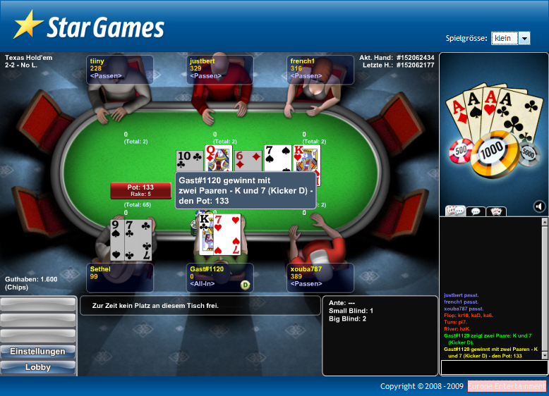 startgames poker